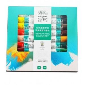Set Culori Acrilice Winsor & Newton 18x10 ml