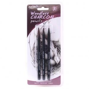 Set creioane carbune Mont Marte 3 bucati